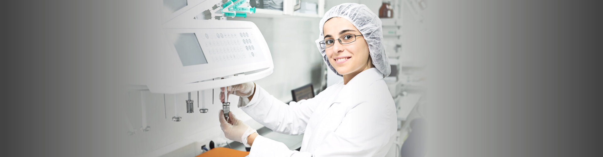 chemist smiling